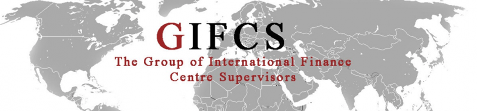 GIFCS (The group of international finance centre supervisors) banner with world map
